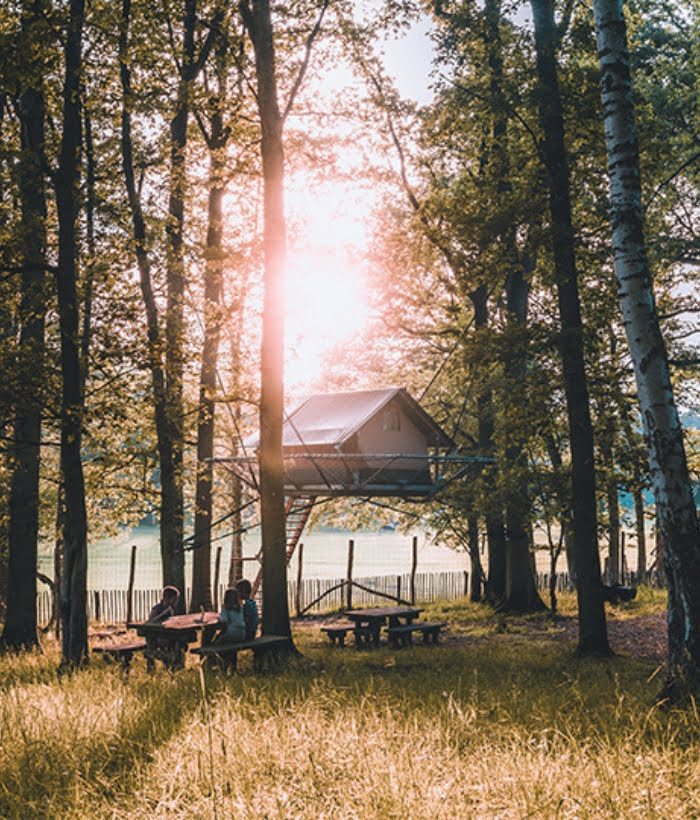Little glamping tents